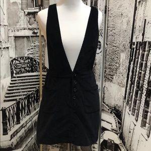 Free People Black Romper Corduroy Skirt size 2